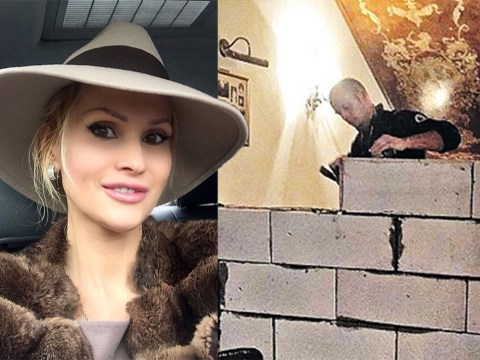 Divorce court orders brick wall is built to divide wealthy couple's mansion