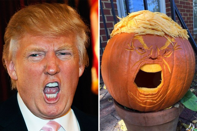 Image result for picture of trump as a pumpkin