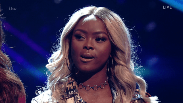 Gifty Louise got a little too excited (Picture: ITV)