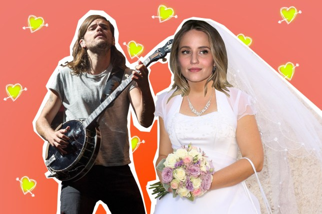 Dianna Agron and Winston Marshall got married (Picture: Rex/Getty)