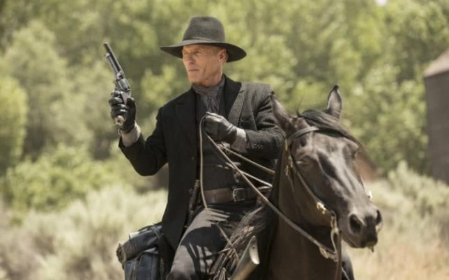 The Man In Black played by Ed Harris is a hot topic in Westworld (Picture: HBO)