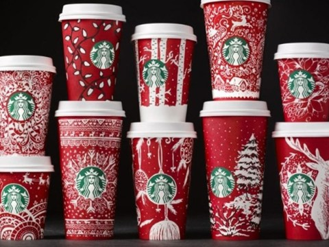 Starbucks has 13 different Christmas red cup designs this year