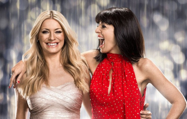 WARNING: Embargoed for publication until 00:00:01 on 22/11/2016 - Programme Name: Strictly Come Dancing 2016 - TX: n/a - Episode: Christmas Special 2016 (No. n/a) - Picture Shows: EMBARGOED FOR USE UNTIL 22ND NOV 2017 Tess Daly, Claudia Winkleman - (C) BBC - Photographer: Jay Brooks