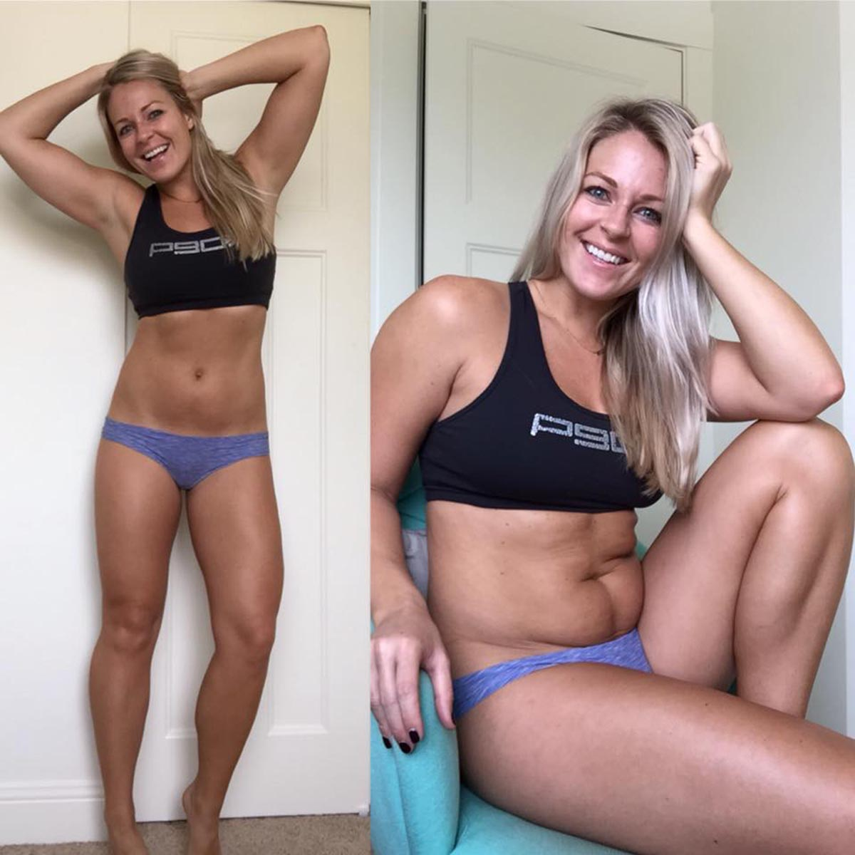 This fitness blogger's side-by-side body photos are inspiring others to love themselves