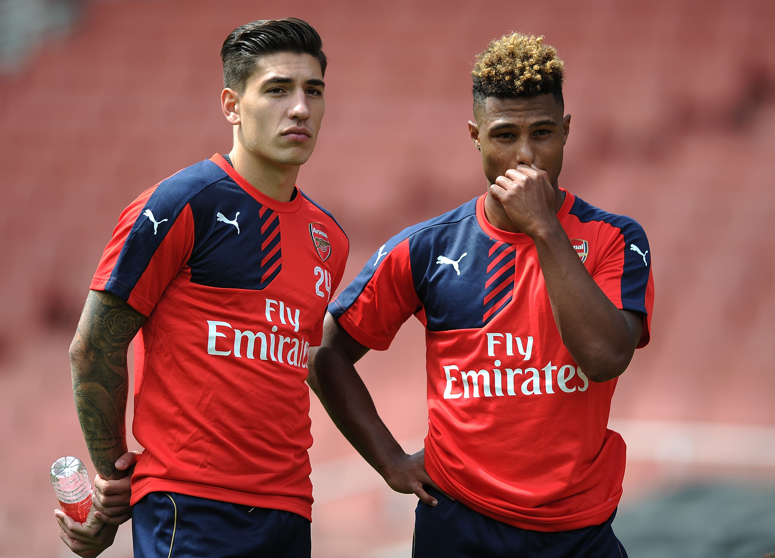Arsenal star Hector Bellerin congratulates 'brother' Serge Gnabry following historic Germany hat-trick