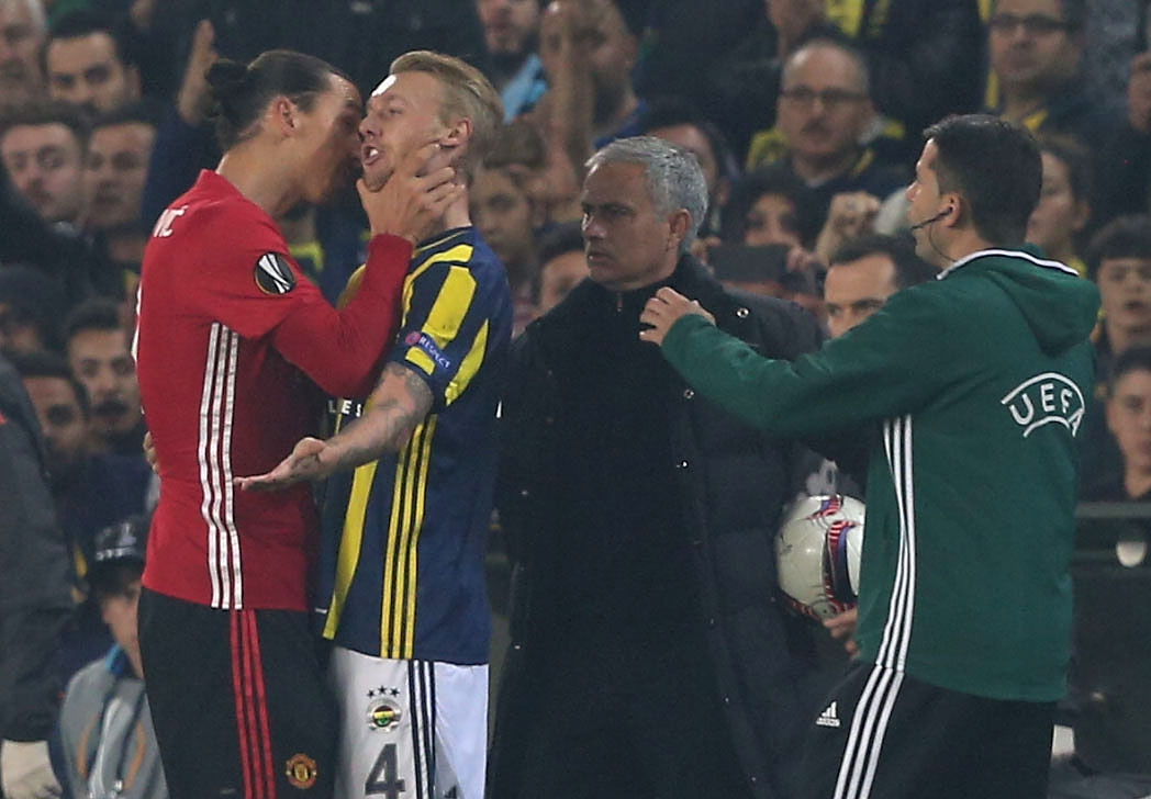 Manchester United star Zlatan Ibrahimovic plays down fracas with Fenerbahce's Simon Kjaer
