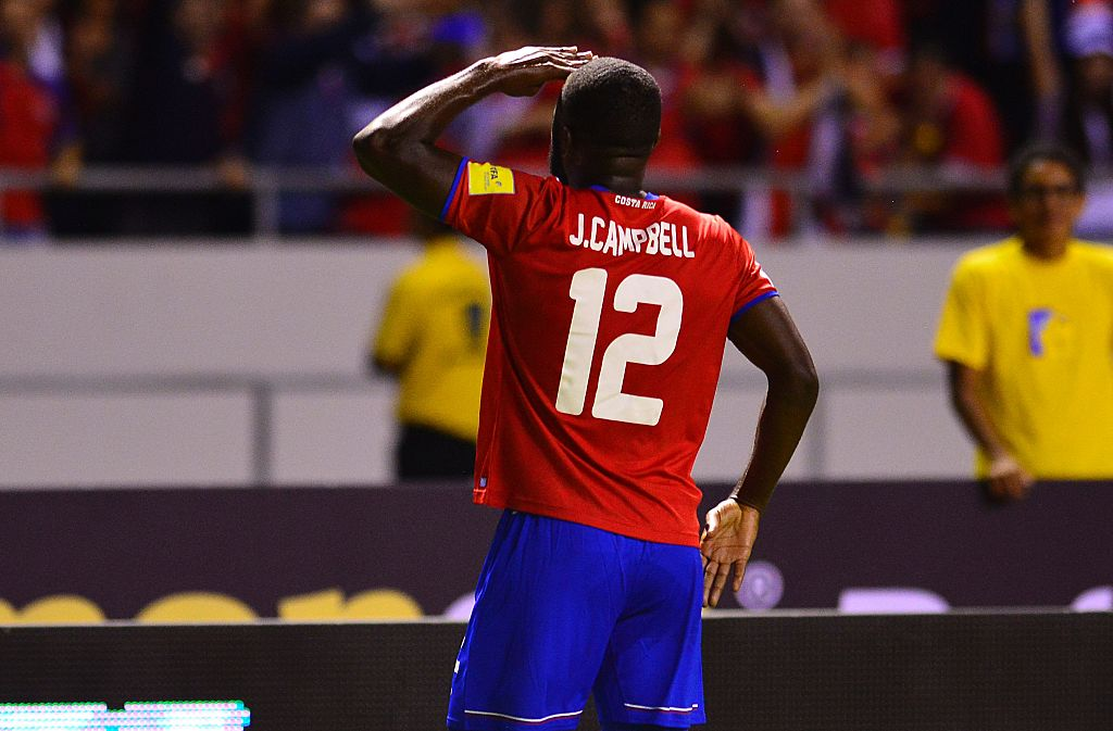 Arsenal loanee Joel Campbell shows his class with two goals for Costa Rica