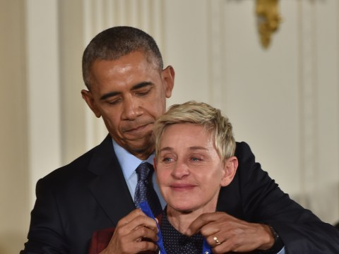 Ellen DeGeneres breaks down in tears after receiving top honour from Barack Obama at the White House