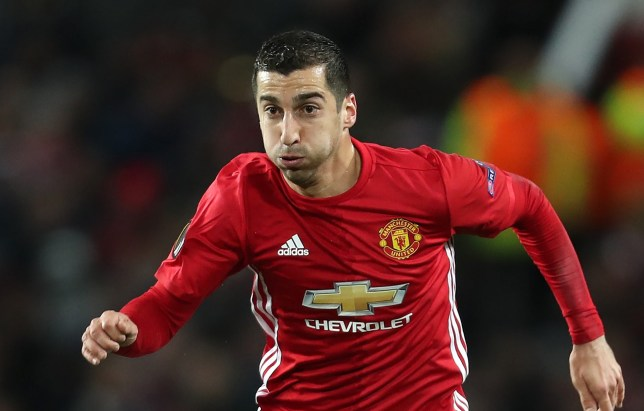 MANCHESTER, ENGLAND - NOVEMBER 24: Henrikh Mkhitaryan of Manchester United in action during the UEFA Europa League match between Manchester United FC and Feyenoord at Old Trafford on November 24, 2016 in Manchester, England. (Photo by James Baylis - AMA/Getty Images)