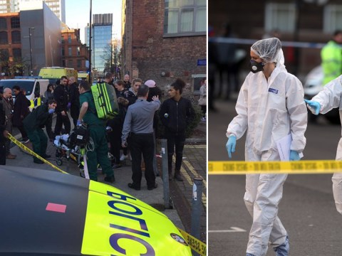 Manchester College closed after two students are stabbed outside campus