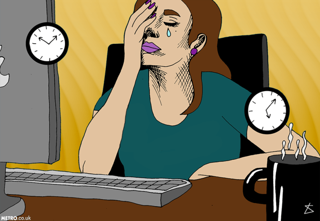 How to deal with workplace stress (on email) Credit: Metro.co.uk/Liberty Antonia Sadler
