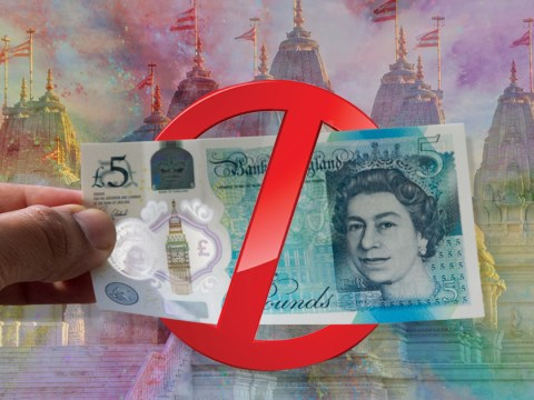 New £5 notes could be banned from Hindu temples