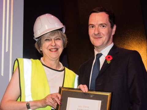 Theresa May took the mickey out of George Osborne at award ceremony