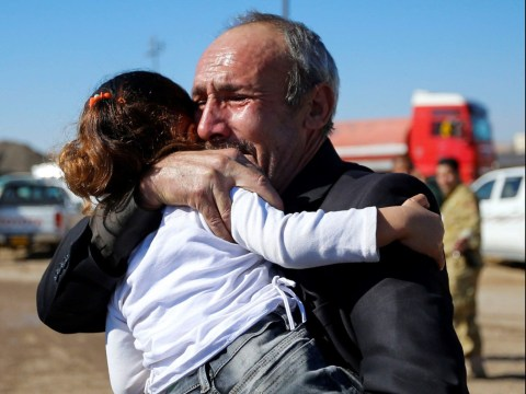 Iraqi family reunite in emotional scenes as battle for Mosul rages on