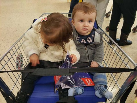Mum had 'worst experience ever' because Tesco trolleys didn't seat both her children