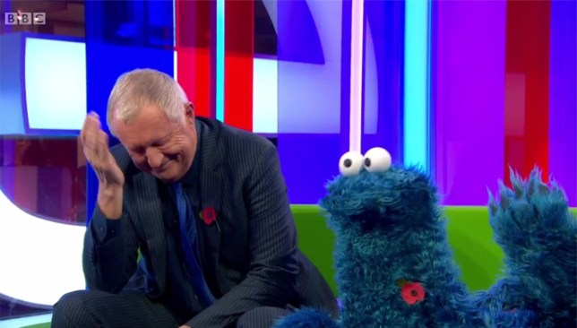 Cookie Monster appears on The One Show credit: BBC