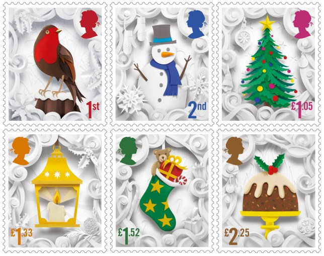 Christmas Stamps.Christmas Stamps 2016 Royal Mail Unveil Designs By Helen