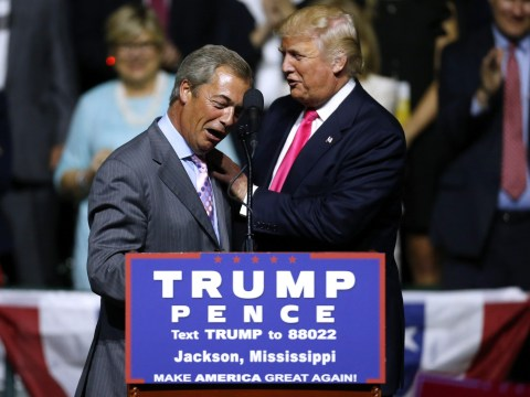 Nigel Farage 'joked' that Trump would grope Theresa May