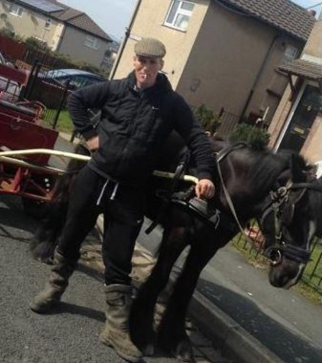 Facebook picture from an open profile of Jason Gorton, AKA 'The Joker', from Burnley, who has gone on trial accused of drinking driving in a horse and cart. Disclaimer: While Cavendish Press (Manchester) Ltd uses its' best endeavours to establish the copyright and authenticity of all pictures supplied, it accepts no liability for any damage, loss or legal action caused by the use of images supplied. The publication of images is solely at your discretion. For terms and conditions see http://www.cavendish-press.co.uk/pages/terms-and-conditions.aspx