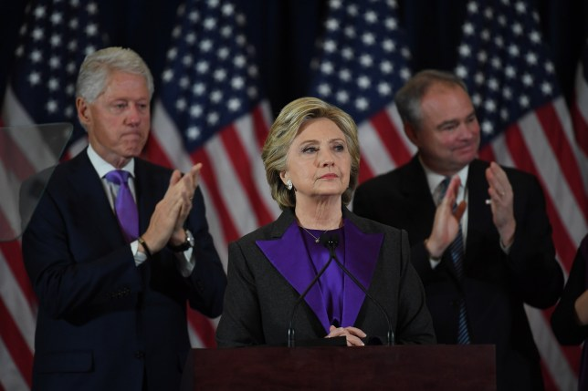 NEW YORK, NY - NOVEMBER 09: Hillary Clinton speaks during a press conference at the Wyndham New Yorker Hotel the day after the election on Wednesday November 9, 2016 in New York City, NY. (Photo by Matt McClain/The Washington Post via Getty Images)