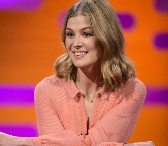 Rosamund Pike during the filming of the Graham Norton Show at The London Studios, south London, to be aired on BBC One on Friday evening. PRESS ASSOCIATION Photo. Picture date: Thursday November 10, 2016. Photo credit should read: PA Images on behalf of So TV.