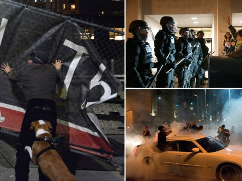 Clashes between protesters and police as anti-Trump demonstrations continue in the US