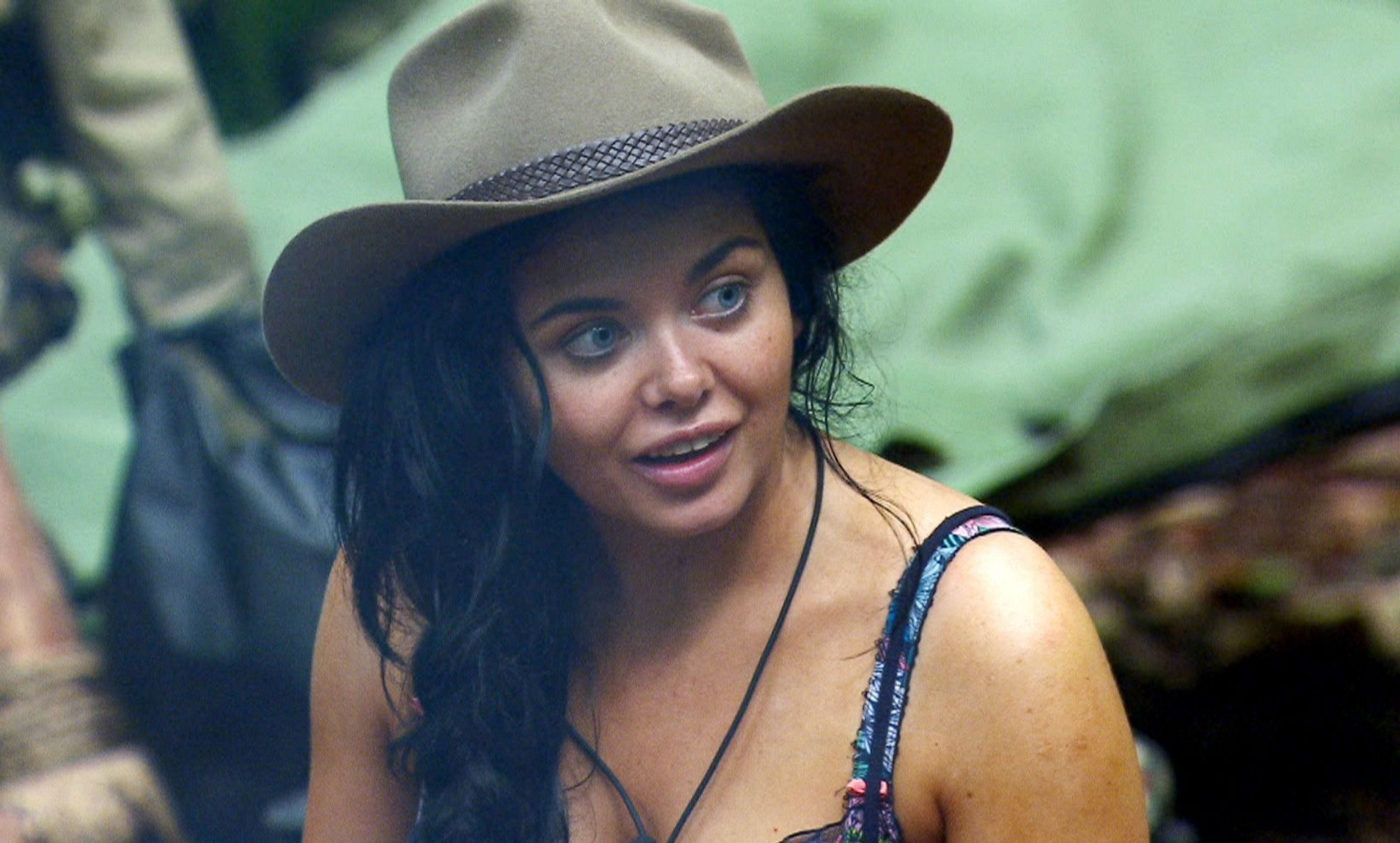 ***EMBARGO, NOT TO BE USED BEFORE 22:45, 13 Nov 2016 - EDITORIAL USE ONLY - NO MERCHANDISING*** Mandatory Credit: Photo by ITV/REX/Shutterstock (7431723dq) Celeb campers 1st morning - Scarlett Moffatt 'I'm a Celebrity...Get Me Out of Here!' TV Show, Australia - 13 Nov 2016