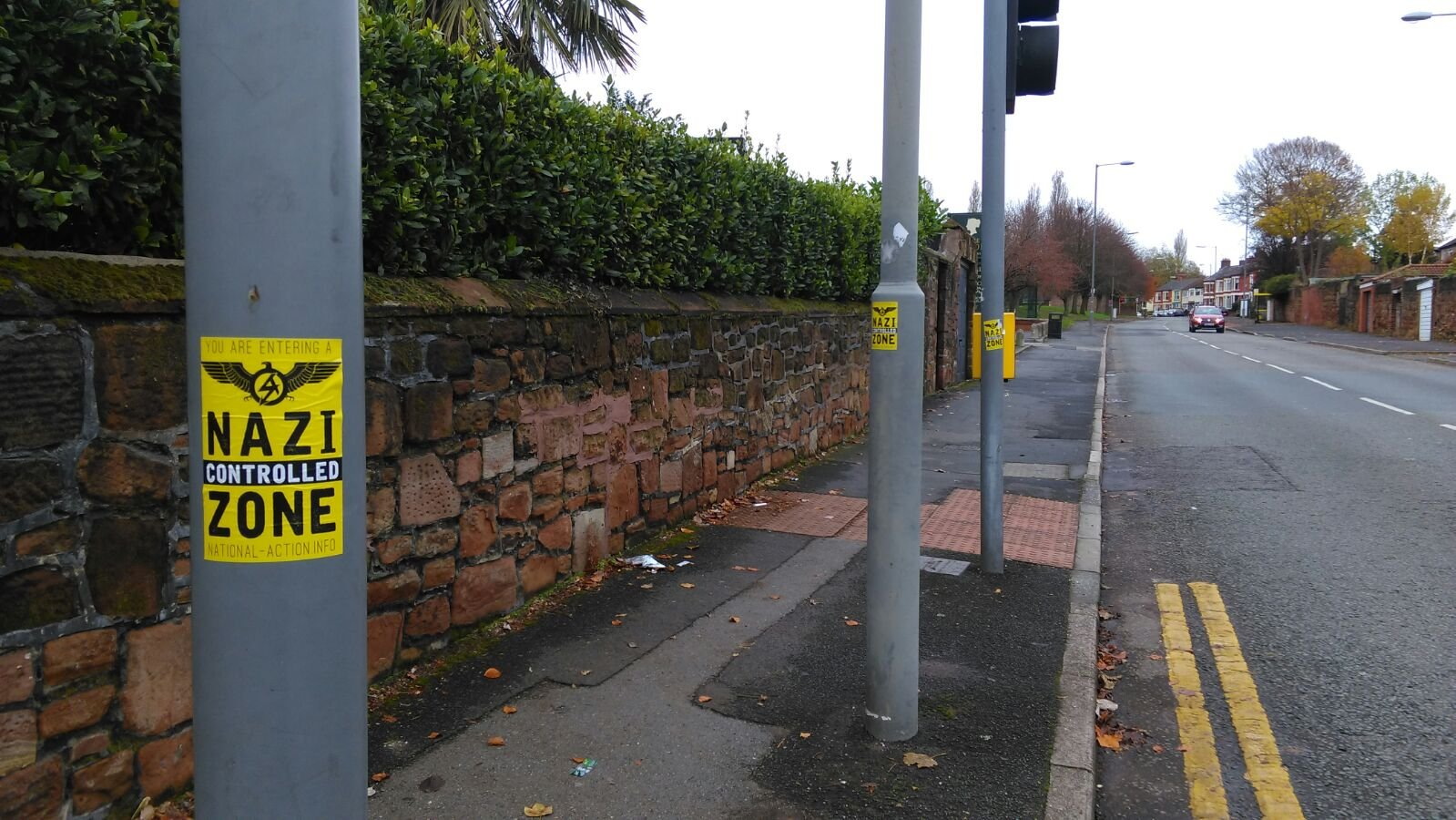 'Nazi Controlled Zone' stickers have gone up in L17