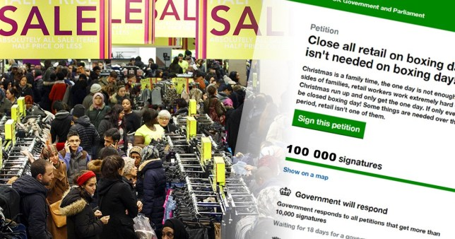 6a7fc99b67119 Government must respond to closing shops on Boxing Day campaign after  petition hits 100,000