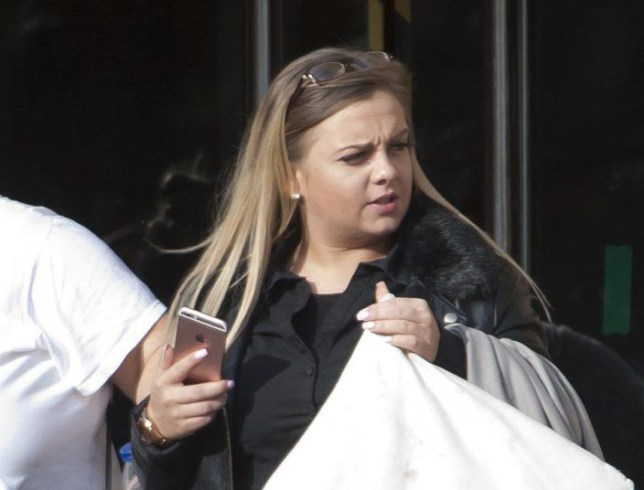 16/11/2016 Wood Green Crown Court (London).nnPic shows Justine Henshaw-Bryan, leaving the court.n nA woman put a cyclist in intensive care when she drove into his rear tyre following an argument on the road, a court heard.n nJustine Henshaw-Bryant, 24, put 37-year-old Damien Doughty in intensive care for several days with a lacerated liver and fractured ribs and fingers in February, Thames Magistrates¿ Court heard today (Wed).n nThe court heard that the two had an ¿exchange of words and gestures¿ after Mr Doughty confronted her for using her phone while driving.n nShe then proceeded to follow him in her black Ford Fiesta and hit his rear wheel, sending him flying into a tree, the court heard.nnnSEE STORY CENTRAL NEWS. 020 72360116nnPicture: Central News/Gustavo Valiente