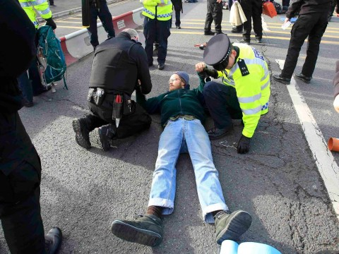 At least 15 arrested at massive 'die-in' protest at Heathrow over airport expansion