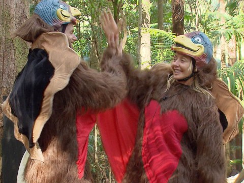 I'm A Celebrity 2016: Carol Vorderman and Joel Dommett get flirty in chicken costumes