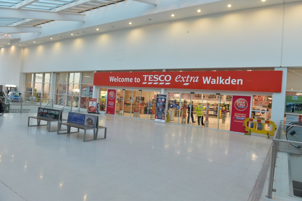 A quiet start at the Tesco supermarket in Walkden, Greater Manchester, on Black Friday (Friday, November 25). Two yeasrs ago the store had to close as 500 shoppers struggled over bargains. Photo taken at 9am.