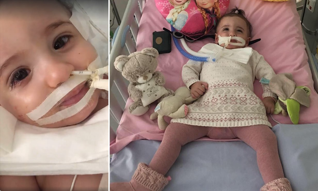 Baby girl, 1, wakes up from coma 10 days after parents won court battle to keep her on life support