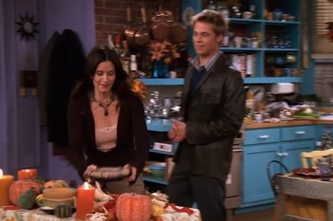Friends fans have only just noticed this continuity error from Brad Pitt's Thanksgiving episode