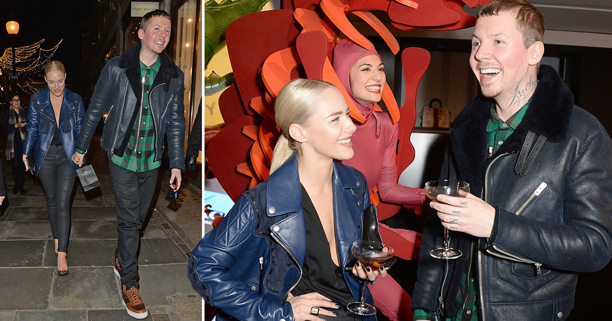 Smitten Professor Green proudly steps out with new model girlfriend Fae Williams on London night out