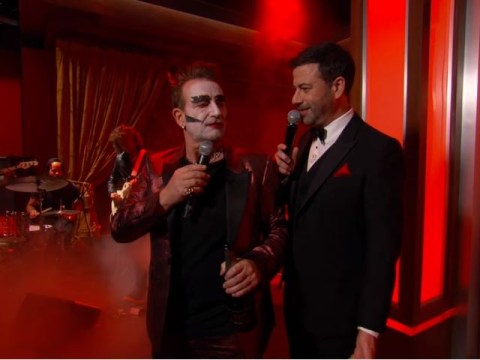 Bono turned up as the Devil for Jimmy Kimmel's RED special sing-along with Channing Tatum and The Killers