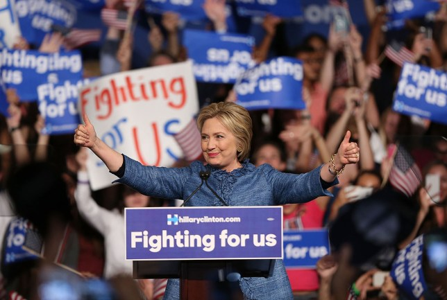 WEST PALM BEACH, FL - MARCH 15: Democratic presidential candidate former Secretary of State Hillary Clinton speaks to her supporters during her Primary Night Event at the Palm Beach County Convention Center on March 15, 2016 in West Palm Beach, Florida. Hillary Clinton and Sen. Bernie Sanders (D-VT) are battling for the Democratic presidential nomination. (Photo by Joe Raedle/Getty Images)