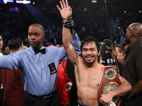 Manny Pacquiao makes winning return to ring with win over Jessie Vargas as Floyd Mayweather's presence sparks rematch rumours
