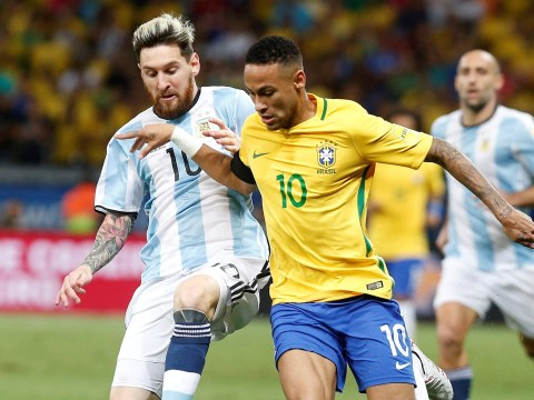 Messi beaten and outmuscled by Neymar in sprint race