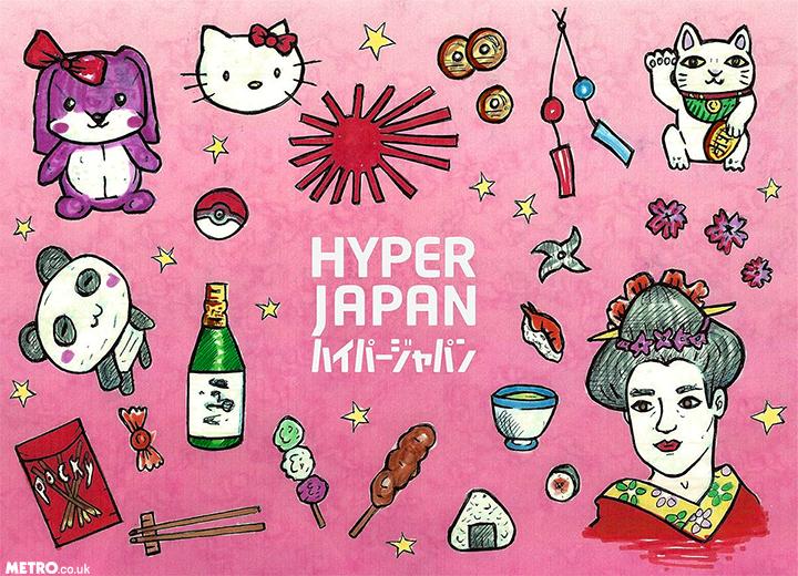 Metro Illustrations Hyper Japan - Winter 2016 Illustration: Charlotte Cockell