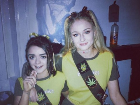 Game Of Thrones' Maisie Williams and Sophie Turner have aced Halloween with 'hash brownie' costumes