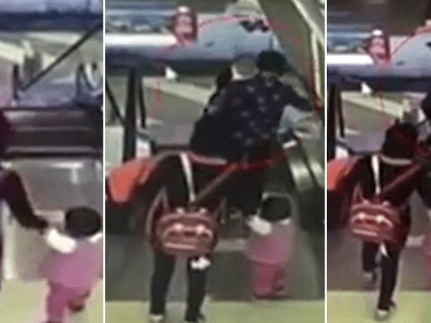 Grandmother dropped baby 30ft to his death after tripping on escalator