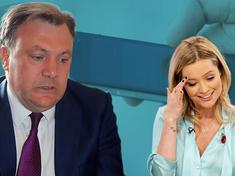 Strictly Come Dancing's Laura Whitmore denies Ed Balls has been 'sexting' her