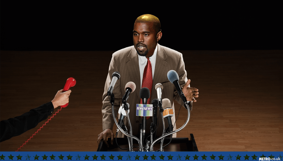 Kanye West 2020 Picture: Getty Images / PA - Credit: METRO.co.uk