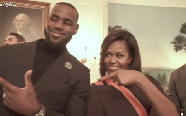 LeBron James and Michelle Obama at the White House (Picture: Cleveland Cavaliers)