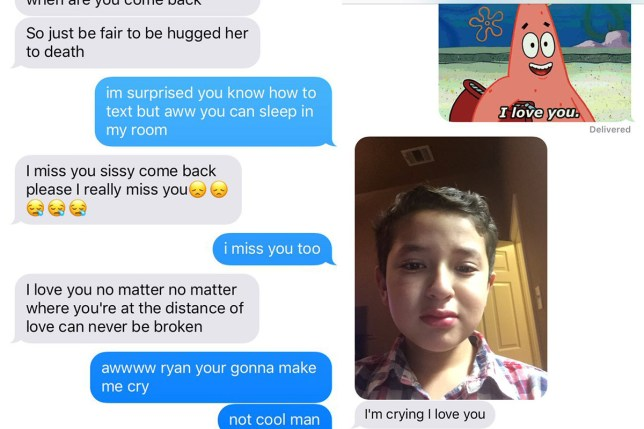 Brother's messages to big sister show how beautiful family