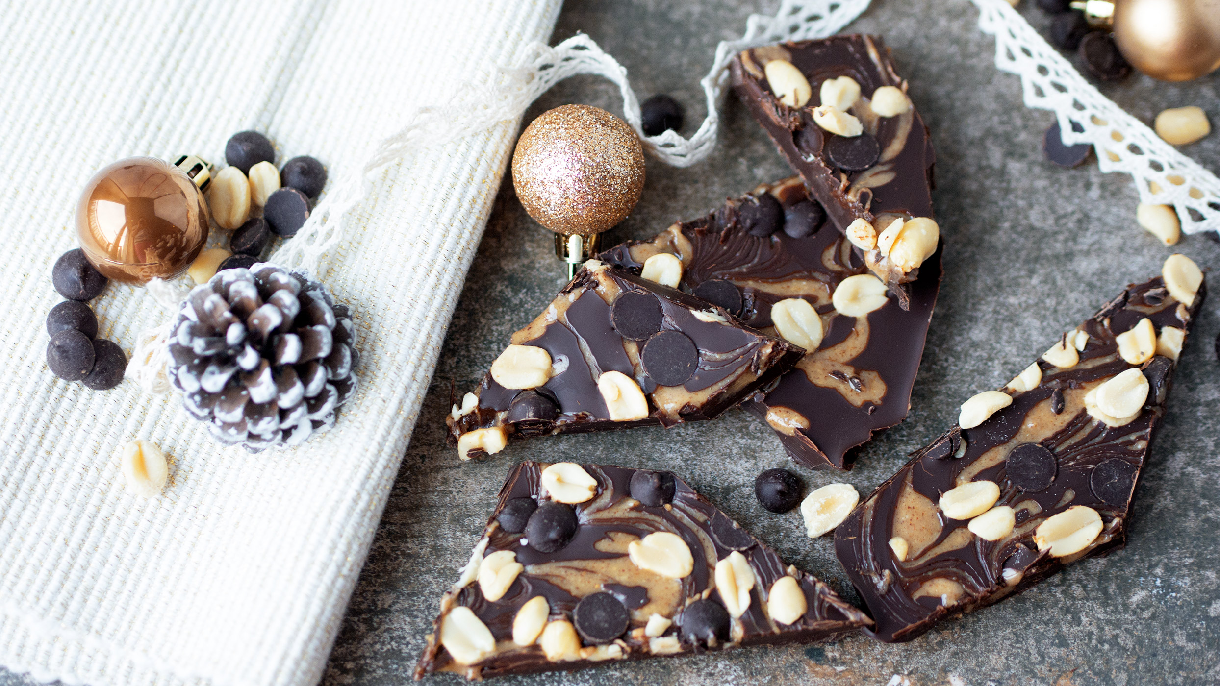 Vegan recipe video: This chocolate peanut butter bark makes the perfect edible Christmas gift