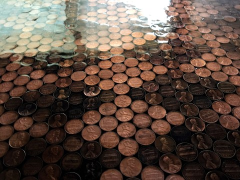 This floor made out of pennies is the most satisfying thing you'll see all day