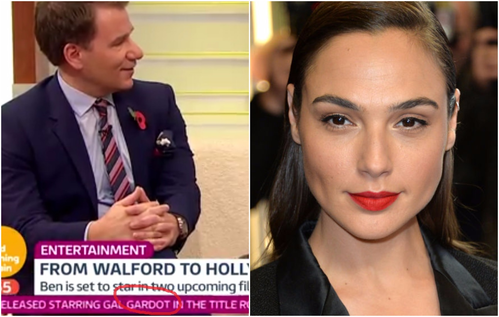 Good Morning Britain viewers appalled by their major misspelling of Hollywood star's name